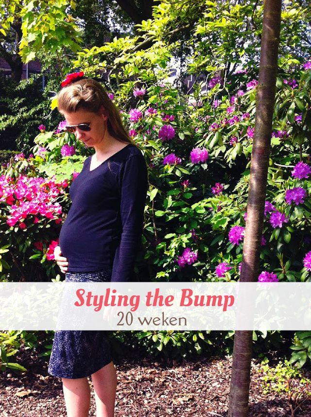 Negende post uit de serie Styling the Bump, waarin ik mijn zwangerschapsoutfits toon van toen ik zwanger was van Kate. -20 weken zwanger.