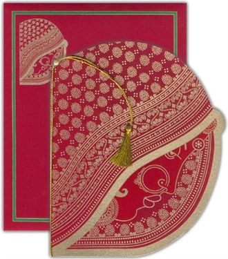 Perfect to be given from the bride's side! --- #indian #wedding #card