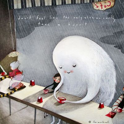don't feel like the only alien on earth (Café by Pencil)...I love this! <3
