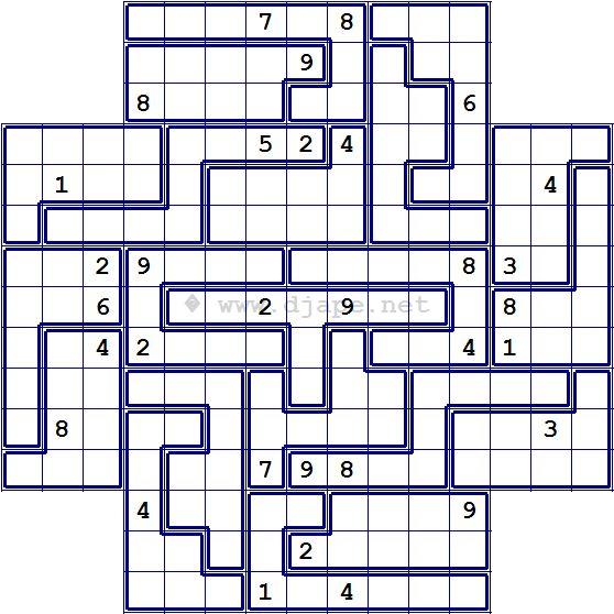 Flower Jigsaw Sudoku