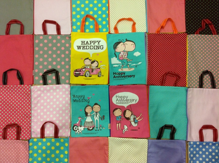 Cute Couple Gift Bag Happy Wedding or Happy Anniversary By Tal Art & Crafts Made in Thailand  Satinee_t@hotmail.com