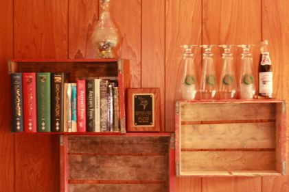 We bought some old unique vintage soda crates and made a really cool bookshelf. These old wooden crates are hard to come by nowadays so we wanted to showcase them on our wall. We had to clean the crates up a bit but it was worth it once we had them attached to our walls. …