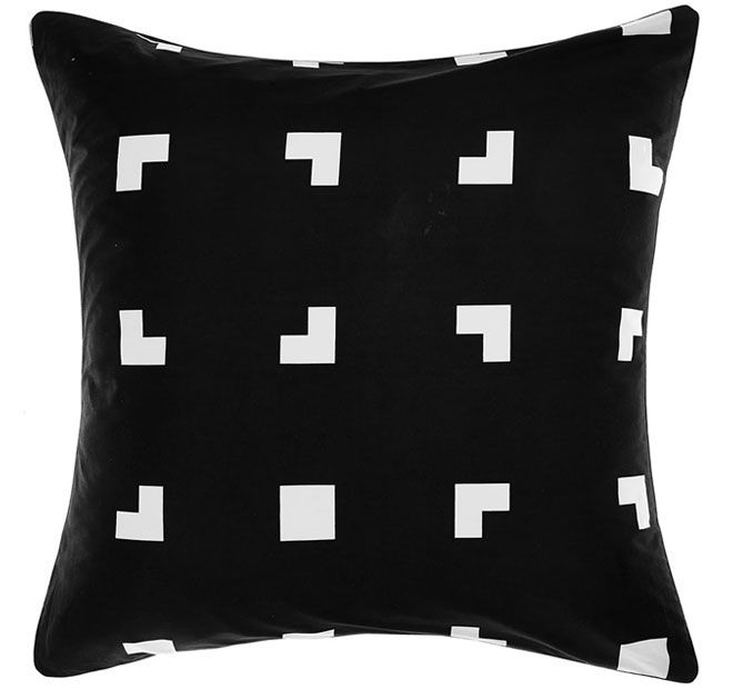 deco-city-living-meta-european-pillowcase-black