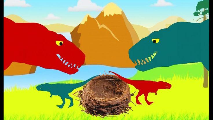 Dinosaurios dibujos animados para niños. Canciones infantiles en inglés ...