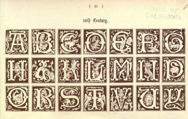 12 tipos de alfabetos usados em tempos medievais - Mega Curioso; http://www.megacurioso.com.br/artes/43115-12-alfabetos-medievais-antiguidade.htm