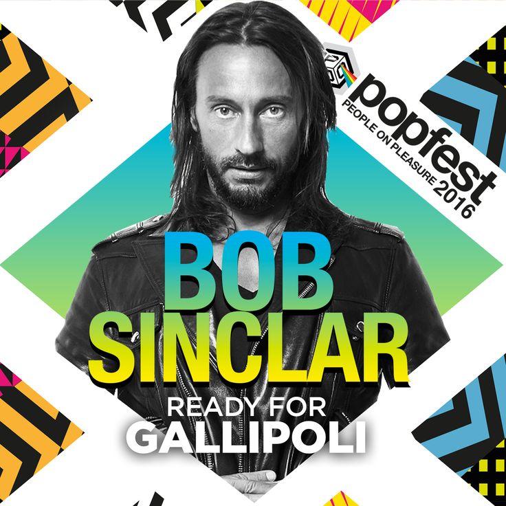 Bob Sinclar IS READY FOR Popfest - People on Pleasure  LE ROI vi aspetta questa estate a Gallipoli  #popfestitaly #popfest #gallipoli #summer #2016