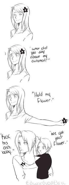 Hold my flower... XD