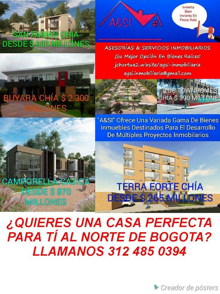 ESXCELENTE OPORTUNIDAD DE ADQUIRIR CASAS AL NORTE DE BOGOTÁ 312 485 0394