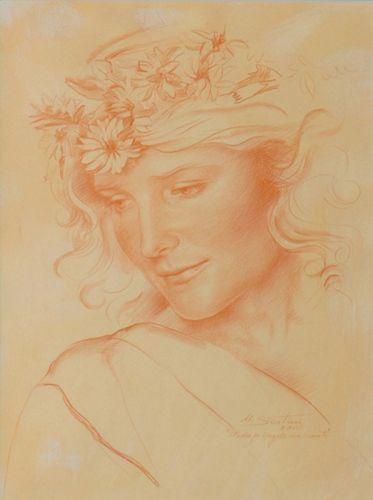 Ulisse Sartini, Estudio para ángel músico