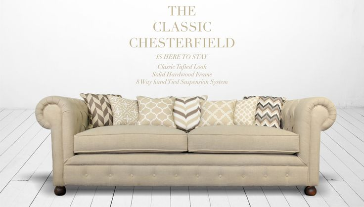 Born in the mid-century, well travelled all over the world, loved for it's regal demeanour, hand-tufted with love and care, The Classic Chesterfield in natural fabrics is here to stay..