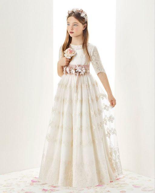 Moda Elegante y Glamorosa Para Niños y Niñas: Hermosos Vestidos de Comunión 2…