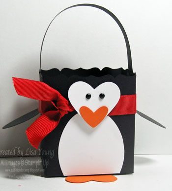 Penguin Fancy Favor Box by genesis - Cards and Paper Crafts at Splitcoaststampers