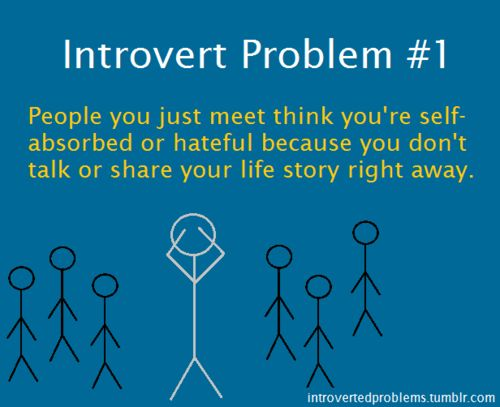 Introvert Problems - I remember hearing this in high school...pretty much this entire blog describes me.