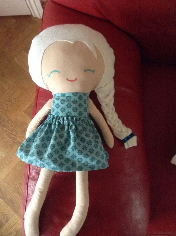 Handmade To Order frozen Elsa inspired Rag Doll