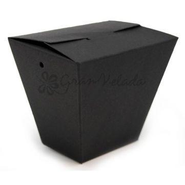 Cajita cartón Negra automontable, muy elegante esta caja con la que sin duda podrás completar tus regalos más especiales. Disponible en Gran Velada.  #diy