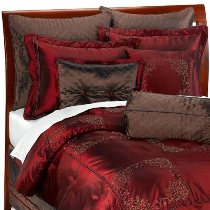 Best Brown And Red Bedroom Images On Pinterest Bedroom - Red and brown bedroom ideas
