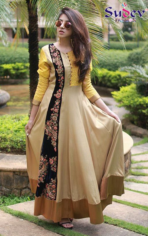 Beige Color Designer Gown # #latestcollection