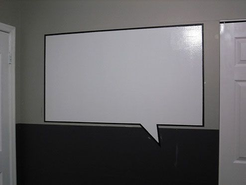 read the comments for some words of warning regarding trying to make a diy whiteboard