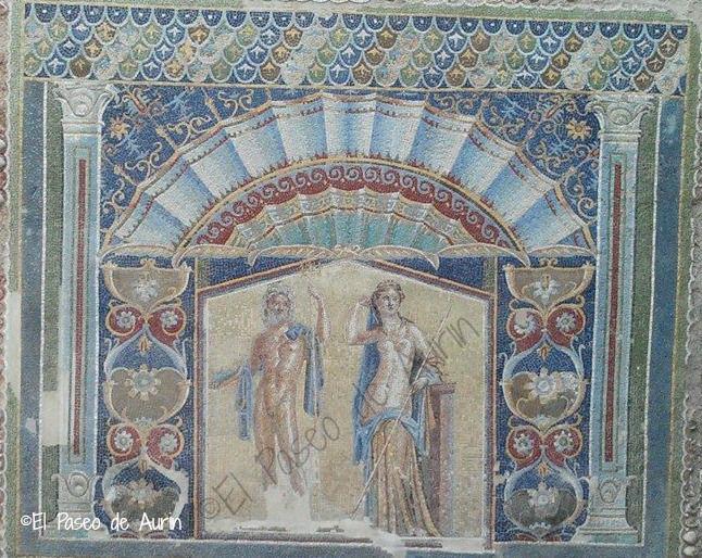 Ercolano. Detalle de la casa de Neptuno y Anfititre.