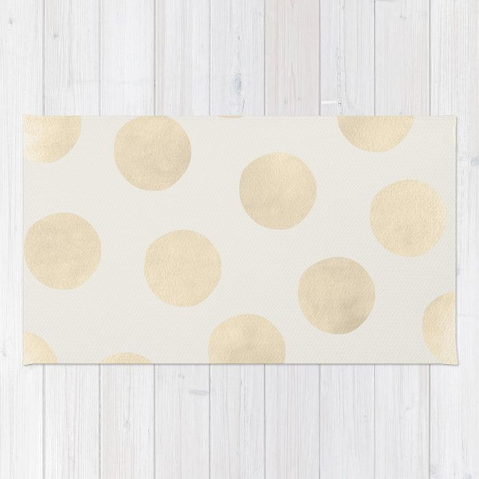 Buy Gold Polka Dots Rug by georgianaparaschiv. Worldwide shipping available at Society6.com. Just one of millions of high quality products available.