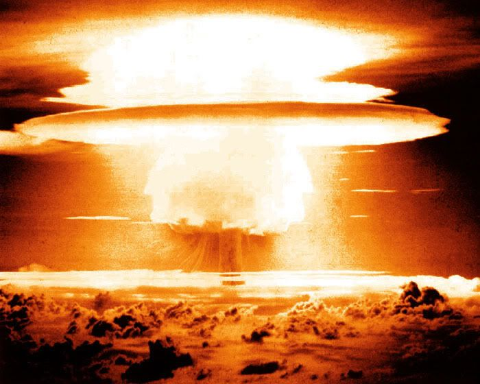 The Castle Bravo Hydrogen Bomb, the first hydrogen based thermo nuclear bomb to be ever tested. The detonation was carried out in 1954 at the Marshall Islands. This bomb was in fact the most powerful nuclear and atomic device ever to be exploded by the USA.