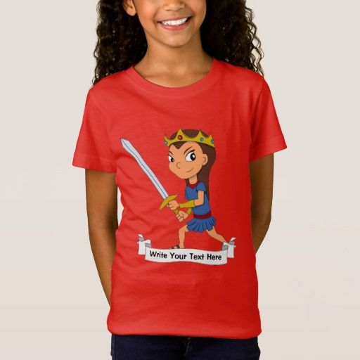 Custom warrior princess cartoon T-Shirt
