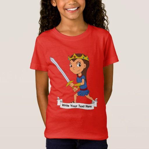 Custom warrior princess cartoon T-Shirt