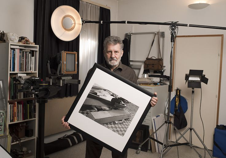 Tímár Péter - Famous hungarian photographers posing with their most iconic works.