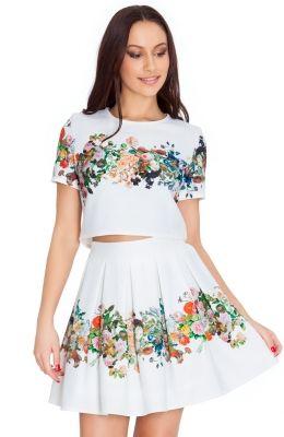 Biele kvetinové šaty Etoile