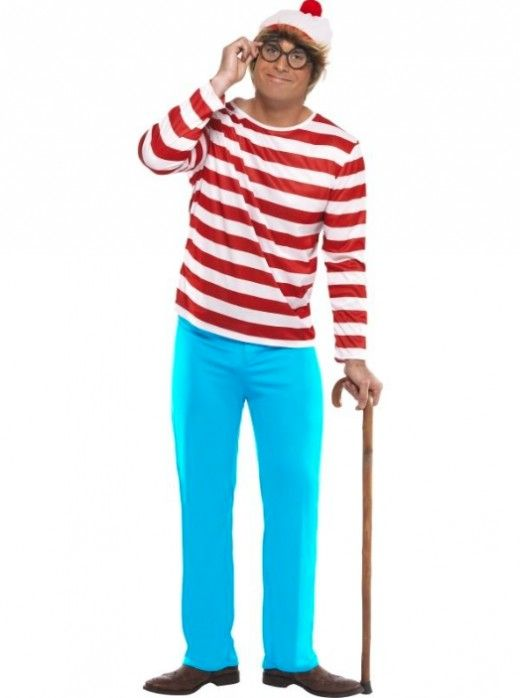 Where's Wally and Where's Wenda Costume for Adults