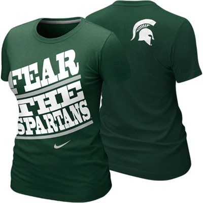 Nike Michigan State Spartans Ladies My School Local T-Shirt - Green @Yesenia Flores ...What do you think??