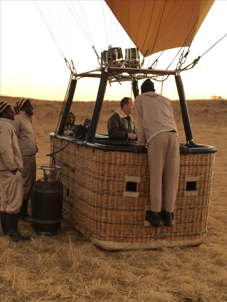 Adam from AirVentures Hot Air Ballooning and his team, almost ready for take…