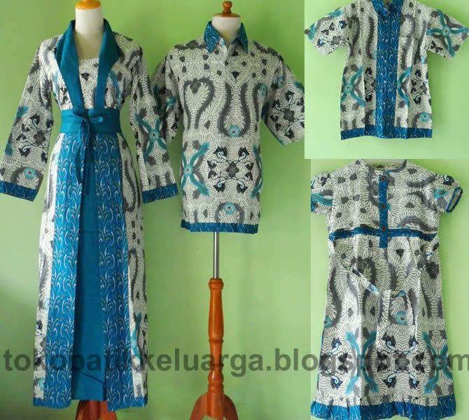 batik sarimbit keluarga muslim modern toska SK27 murah di toko baju ...