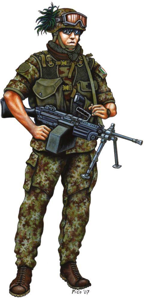 1° reggimento Bersaglieri, capoarma in uniforme da combattimento - pin by Paolo Marzioli