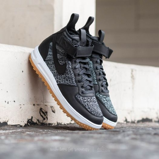 Nike Lunar Force 1 Flyknit Workboot Black/ White-Wolf Grey za 3 099 Kč