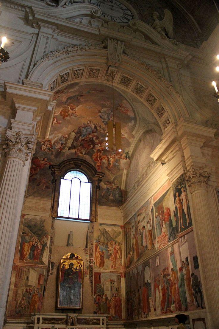 Cappella Brancacci (parete destra) - Chiesa Santa Maria del Carmine, Firenze - affreschi di Masaccio, Masolino di Panicale e Filippino Lippi - 1426-1482