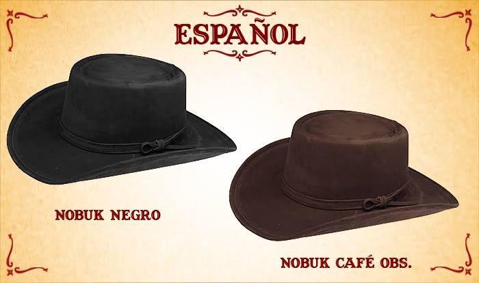 #Sombreros modelo español, Negro y café obscuro