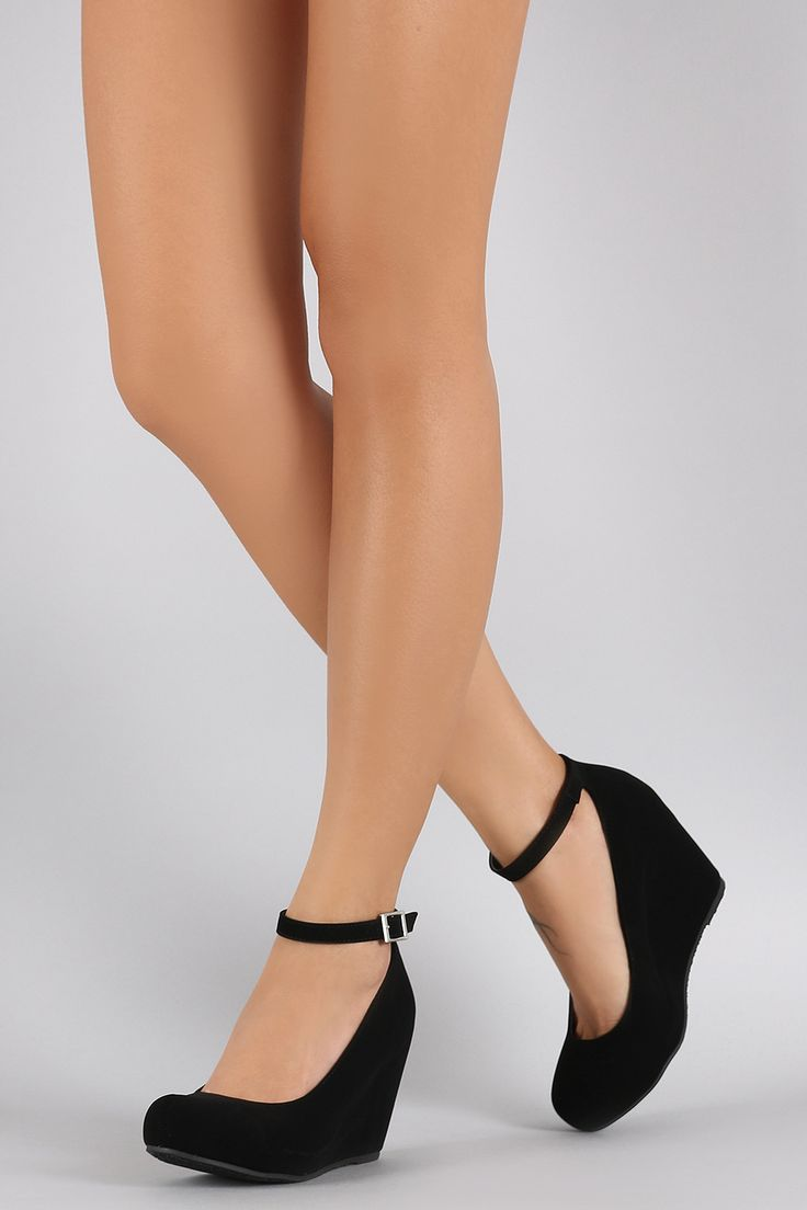 Free SH & Easy Returns! Shop Bamboo Ankle Strap Hidden Wedge. This wedge features a round toe, hidden platform, wedge heel, and adjustable ankle strap.