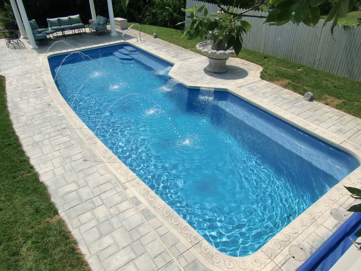 25 best ideas about fiberglass pool prices on pinterest for Cheap rectangle pools