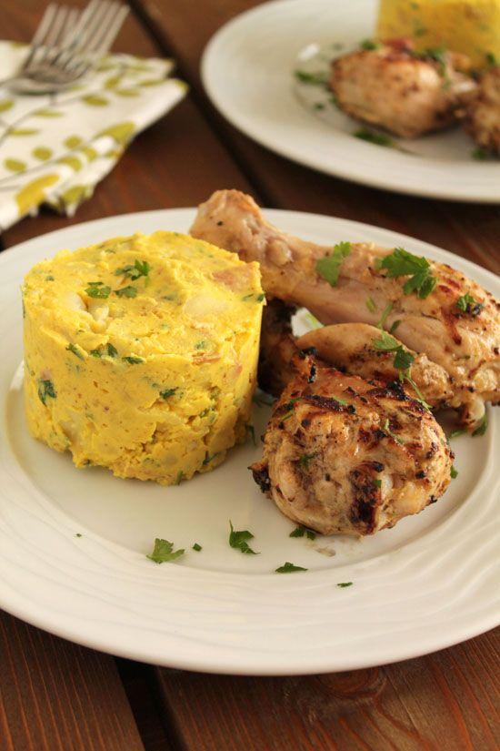 Μπουτάκια κοτόπουλου στο μπάρμπεκιου και εύκολη πατατοσαλάτα