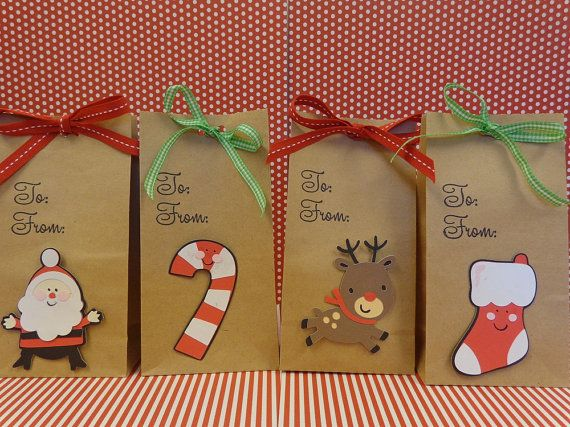 Christmas Goodie And Treat Bags Natural Bag By Thepirdiebirdie 18 00 Christmas Gift Ideasanyone Pinterest Christmas Goodie Bags And Christmas