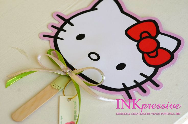 hello kitty invitation | Hello Kitty Fan Invitations