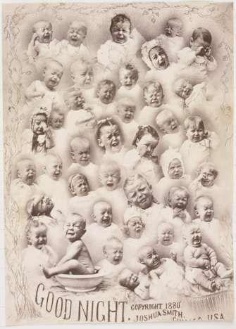 Compositieportret van huilende baby's. 'Good Night'., Joshua Smith, 1880 - Shape of Time-Collected Works of trozen - All Rijksstudio's - Rijksstudio - Rijksmuseum