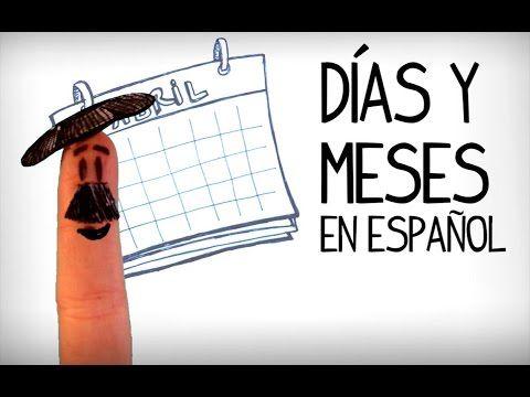 Jours et mois en espagnol, Vocabulaire pour débutant-espagnol - YouTube. tioSpanish