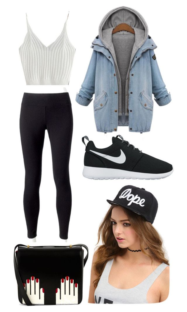 """Outfit #7 Casual"" by anaza1410 on Polyvore featuring moda, Jockey, NIKE y Lulu Guinness"