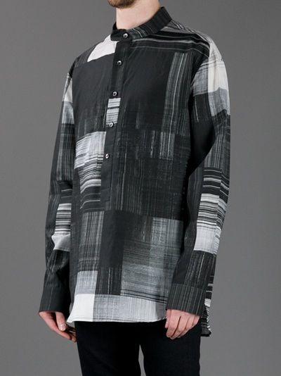 JAMES LONG - printed grandad shirt 8