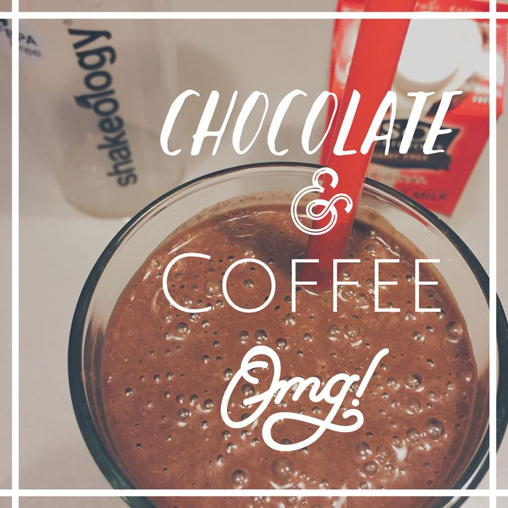 Omg indeed! I am in LOVE with this shake.  1 scoop Vegan Chocolate + cup of cold coffee and coconut milk (for coffee) ice & blend.