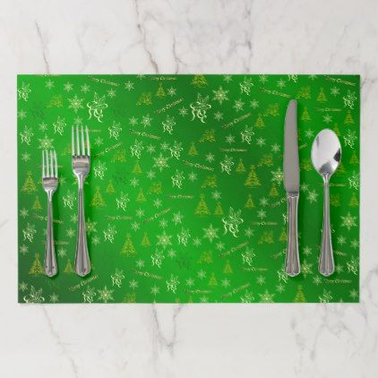 green and gold merry christmas text paper placemat - Xmas ChristmasEve Christmas Eve Christmas merry xmas family kids gifts holidays Santa