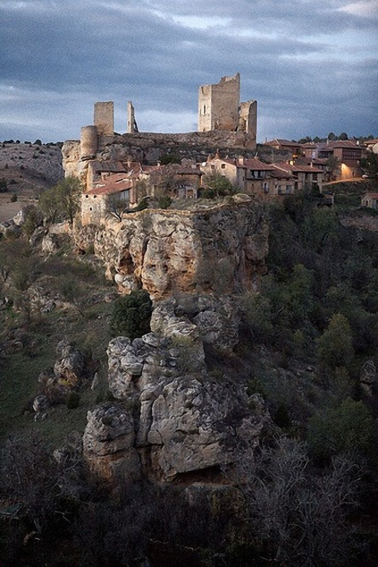 "Castles of Spain - Calatañazor, Soria, Spain. - The name Calatañazor comes from the Arab 'Qalat al-Nusur' which can either mean 'Castle of vultures'. Calatañazor is a municipality located in the province of Soria, Castile and León, Spain. In the valley between Calatañazor and Abioncillo the 'Battle of Calatañazor' took place in the year 1002. The valley is still named ""the valley of blood"". Almanzor, the ruler of Muslim Al-Andalus is by some historians said to have died in this battle."