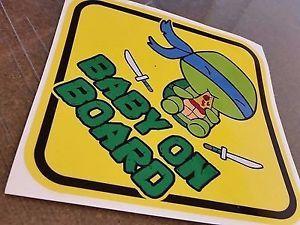 Teenage Mutant Ninja Turtles LEONARDO CUTE CHIBI BABY ON BOARD ...